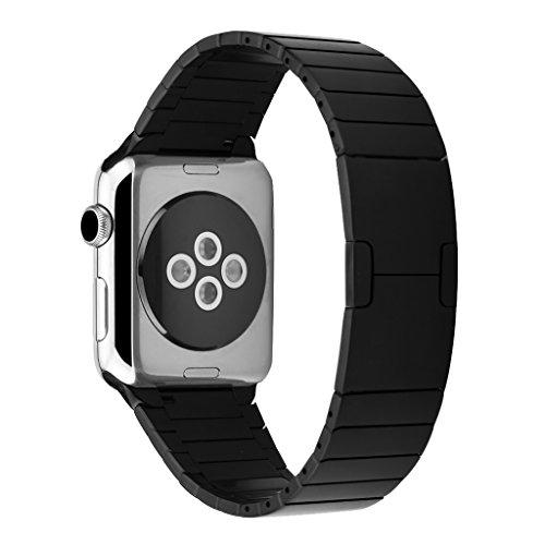 excelvan-l04-correa-de-acero-inoxidable-para-apple-watch-42mm-boton-plegable-doble-negro