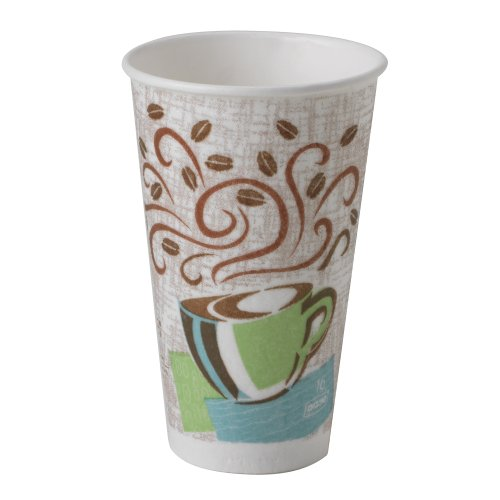Georgia-Pacific Perfectouch 5356Dx Wisesize Coffee Design Insulated Paper Cup, 16Oz Capacity (Case Of 500 Cups)