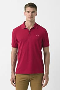Short Sleeve Rubber Croc Semi Fancy Pique Polo