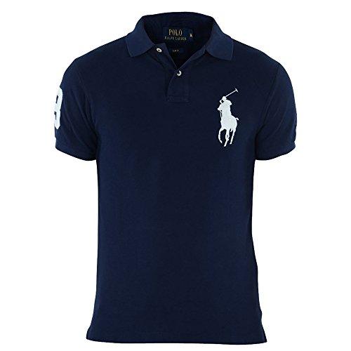 polo-ralph-lauren-bleu-marine-big-pony-blanc-slim-fit