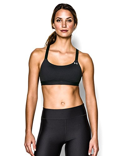 Under Armour Women's Eclipse Bra, Black/Black, Large