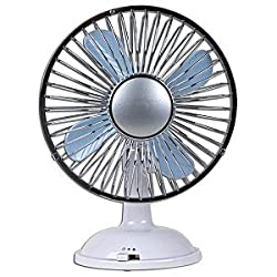 USB Desktop Fan (White/Chrome)