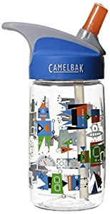 CamelBak Kid's Eddy Water Bottle, Atomic Robots, .4-Liter