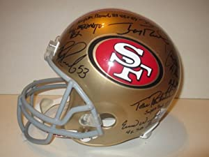 San Francisco 49ers Legends Autographed Riddell Full Size Football Helmet Signed by... by Southwestconnection-Memorabilia