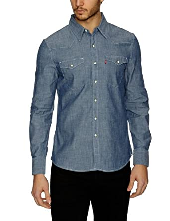 Levi's® - barstow western - chemise - homme - Bleu (Blue Chambray) - FR : XX-Large