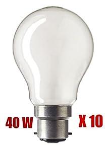 10 X 40W BC Pearl GLS Light Bulb Lamp 40 Watt 240v by Maxim