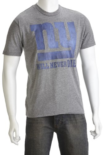 Junk Food Men's Ny Will Never Die T-Shirt Steel NF384-6040 Small