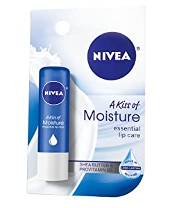 Nivea a Kiss of Moisture Essential Lip Care, 0.17-Ounce Sticks (Pack of 6) (Packaging May Vary)