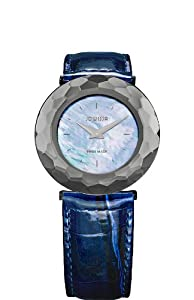 Jowissa Women's J1.027.L Safira 99 Mother-of-Pearl Navy Blue Patent Leather Watch