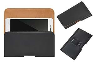 Acm Belt Holster Case For Oppo R7 Lite Mobile Leather Cover Clip Black
