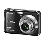 Fujifilm FinePix AX550 16MP Point-and-Shoot Digital Camera (Black) with 4GB SD Card, Carry Case, Battery Charger...