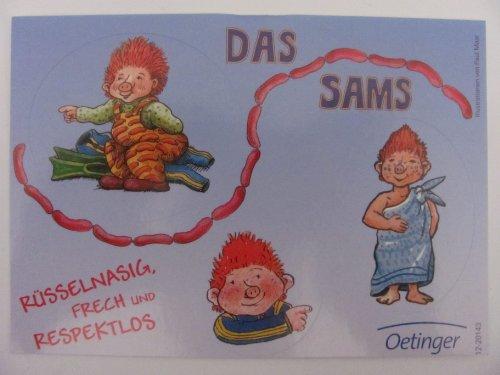 Das Sams - Rüsselnasig, frech & respektlos - 3 Aufkleber - Neu hier kaufen