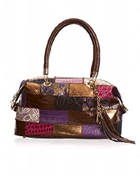 Moroccan Patchwork Satchel from bebe.com