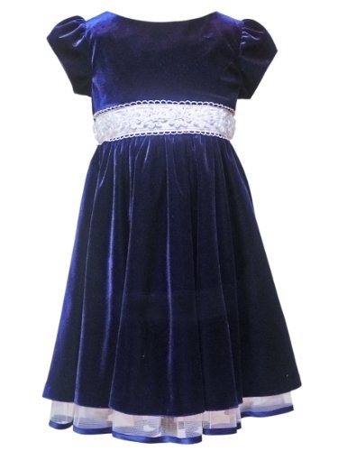 Rare Velvet Soutach Dress in Navy Blue