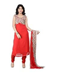 SHARMILI Women's Georgette Straight Salwar Suit - B010ND4MES