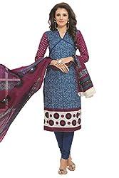 Gugaliya Women's 100 % Cotton UNSTICHED Salwar, Kameez & Dupatta Suit (SJ- 3106)