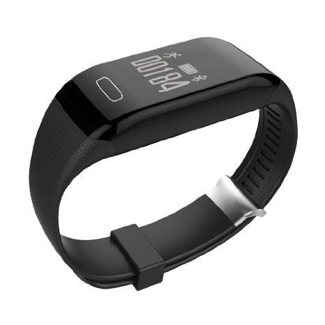 Fitness Tracker con cardiofrequenzimetro, touch screen impermeabile Zomtop H3 senza fili Bluetooth intelligente orologio sano Wristband (nero)