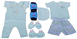 BORN BABY 8 PCS GIFT SET (6 - 12 months) (Baby Boys) (Mint)