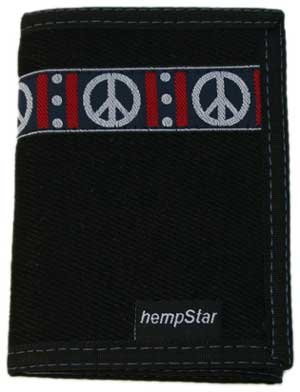Hempstar Peace Black Men's Vegan Wallet