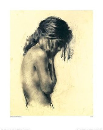 Mackesy Girl Rare Sexy Figurative Portrait Sketch Poster Fine Art Print 16 x 20 inches