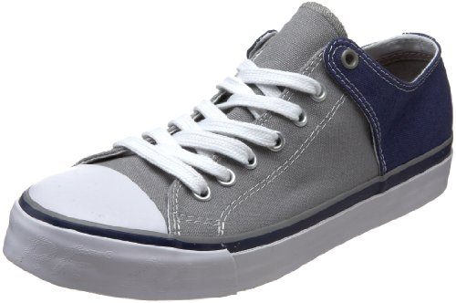 PF Flyers Unisex Bob Cousy Lo Canvas Sneaker,Grey/White,5 M US