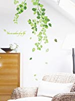 Ambiance Sticker Vinilo Decorativo Green Ivy Leaves Flowers