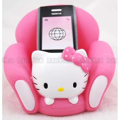 Hello Kitty Sofa Mobile Cell Phone Holder Hot Pink