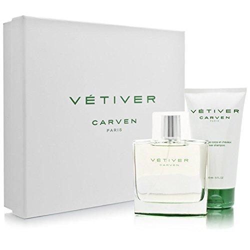 Vetiver Carven by Carven for Men. Set-Eau De Toilette Spray 3.33-Ounces by Carven