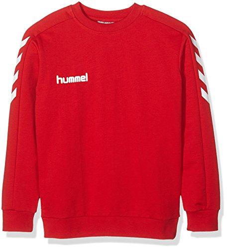 Hummel-Felpa Ragazzo Core Cotton Sweat, Ragazzo, Sweatshirt CORE COTTON SWEAT, Rosso vivo, 164-176