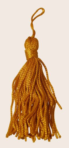 5 each -- 3 inch Gold Tassel