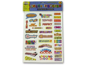 24 Packs of Assorted Motivational Stickers