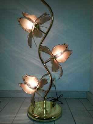 How To Get 3 Lotus Flower Desk Table Lamp With Brass Coating And