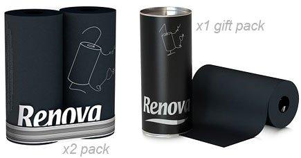 Renova Black Paper Towel Renova Kitchen Roll 2 Roll