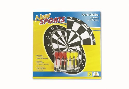 NEW SPORTS Dartboard with 6 arrows 43 cm diameter (0009459) by Unknown günstig