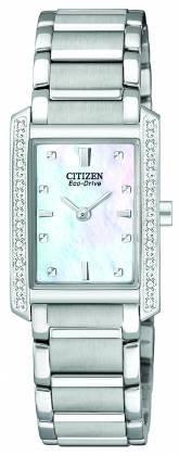 Citizen Ladies Diamond Encrusted Bracelet Eco-Drive EX1130-50D