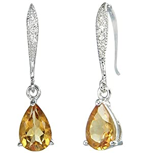 Sterling Silver Citrine Earrings (1.75 CT)