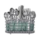 DecoBros Chrome Flatware Organizer Holder Caddy