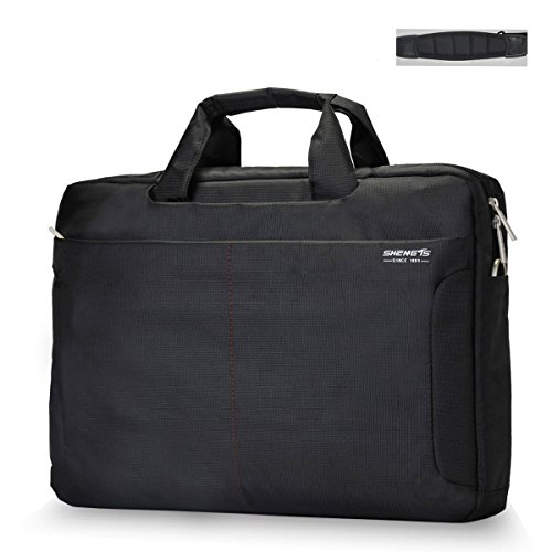 18 Inch Laptop Bag,ShengTS Shoulder Bag Fits up to 18.4 Inches Gaming Laptops Nylon Waterproof Fabric Shockproof Sleeve for Notebook Computer Mackbook (18.4 Inches, Black) (Package Of Notebooks compare prices)