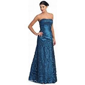 Strapless Formal Prom Dress JR Long Gown #2553