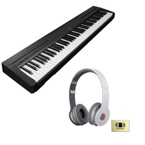 Yamaha P-Series P-35 88-Key Digital Piano With And Bgraded Hammer Standard Keyboard Built-In Speaker System Bundle With Beats By Dr. Dre Solo Hd On-Ear Headphones (White) And Custom Designed Zorro Sounds Instrument Cloth