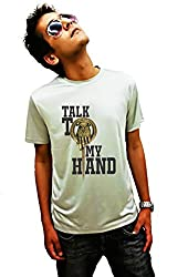 LetsFlaunt Talk to my hand gameofthrones T-shirt grey boys Dry-Fit-Large Nw