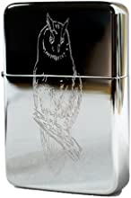 Lighter - Owl High Polish Chrome