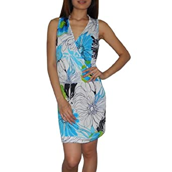 Womens Thai Exotic Sexy V Neck Sleeveless Fitted Casual
