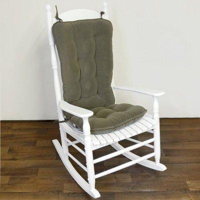 Greendale Home Fashions Jumbo Rocking Chair Cushion, Cherokee Solid, Sage