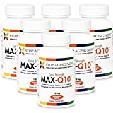 MAX-Q10® 150 mg - Trans-Form CoQ10 (Made with 100% Kaneka Q10) | 30 Veggie Caps. Made in the USA. (6 Pack)
