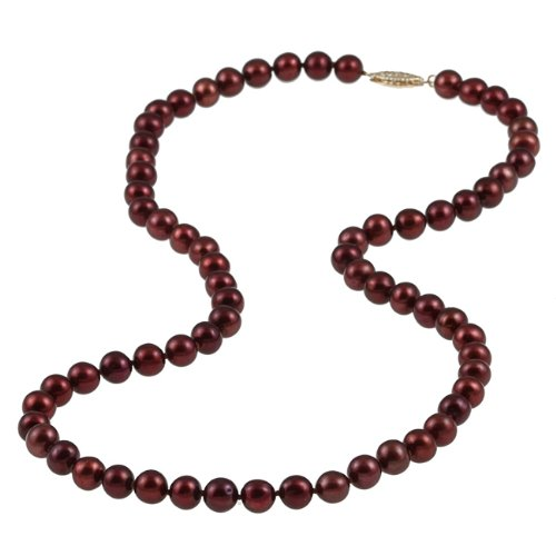 Cultured Red Freshwater Pearl Strand (6-6.5 mm)