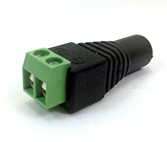 STRIP LIGHT CONNECTOR **FEMALE CONNECTOR WHICH EASILY ALLOWS ALL LED STRIPS/TAPE LIGHTS TO BE CONNECTED TO A 12V POWER ADAPTER**