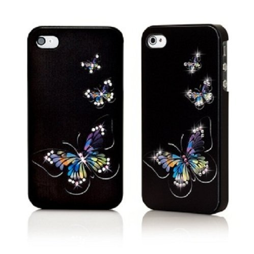 \ Swarovski use iphone4 / 4S Ayabori cover butterfly