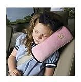 KooPower® Coussin de Ceintures de sécurité Oreiller détachable Pratique et confortable Auto Voiture Protection épaule cou pour Enfants Kids Bébés Fille Rose...
