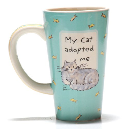 Tumbleweed Pottery 'My Cat Adopted Me' Ceramic Pet Coffee Mug